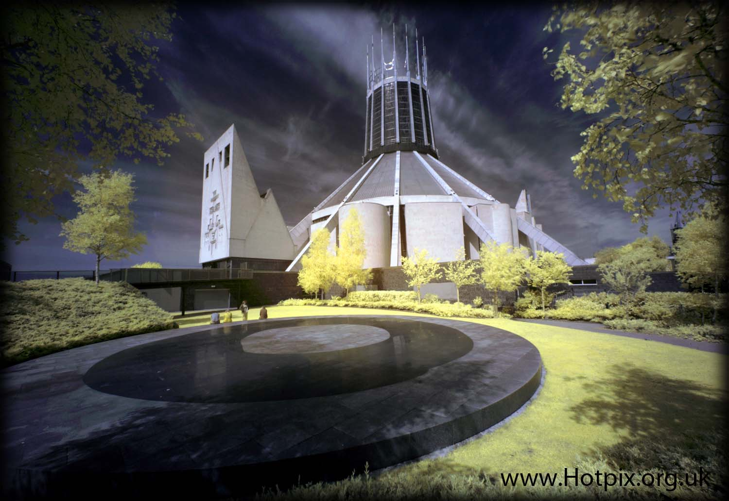 Catholic,Cathedral,Liverpool,Concrete,Tony,Wigwam,wig,wam,Smith,Hotpix,tonysmith,paddy,paddys,hope,street,England,Beatles,travel,what,see,UK,infra,red,infrared,ir,R72,Hoya,color,colour,false,adapted,720nm,camera,cameras,Mersey,Funnel,historic,city,buildings,building,town,beatle,thebeatles,hotpix.com