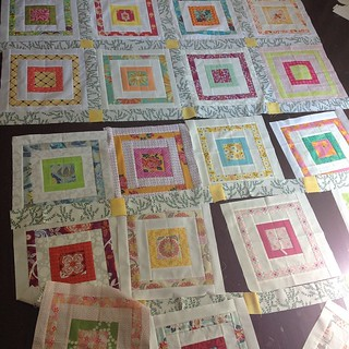 Putting together a quilt top for #havendgs