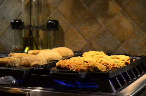 Dinner's on, Who would like a salmon  burger?   by Colby Stopa