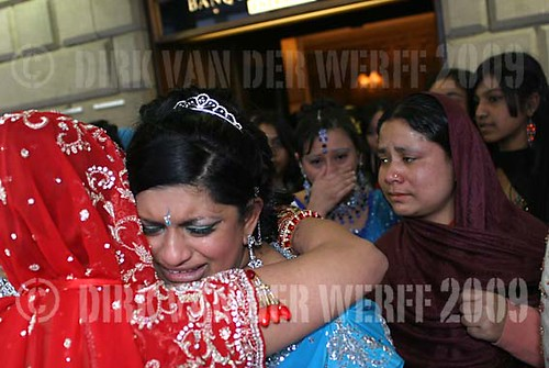 TEARS - ETHNIC WEDDING - MUSLIM WEDDING - UK - ENGLAND - G