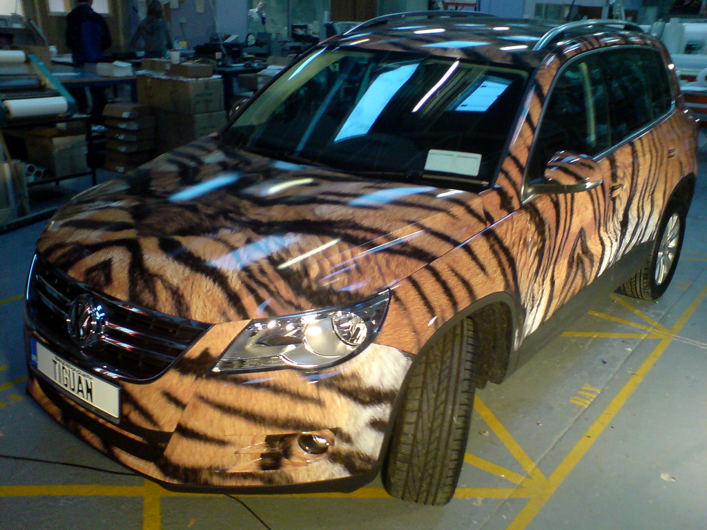 Vehicle Wrap - VW Tiguan (2) | The finished Tiger Stripped V