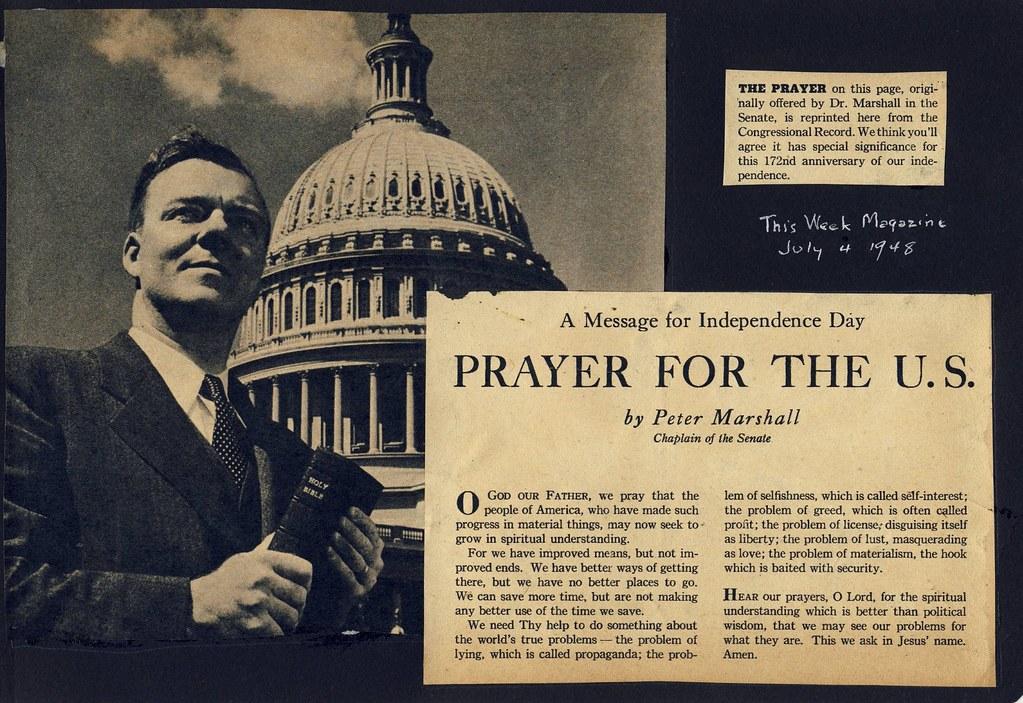 Prayer for the U S  July 4, 1948 | July 4, 1948