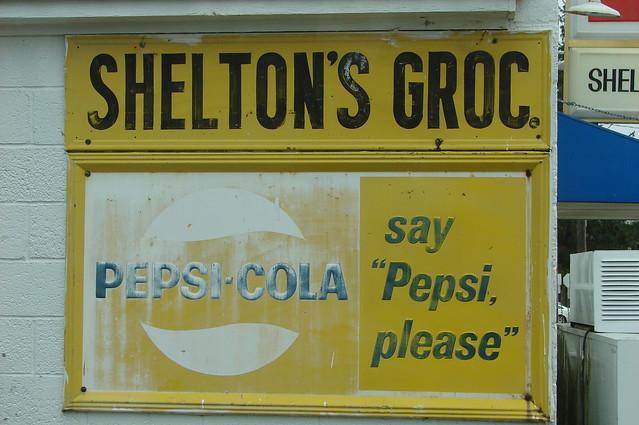 Faded Pepsi sign