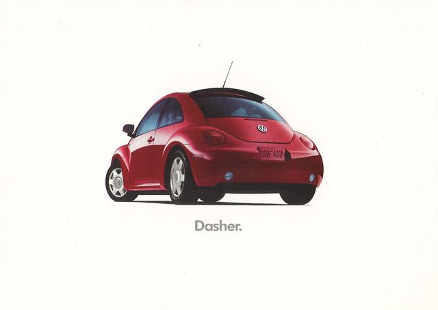 VolksWagen Turbo Car Ad Postcard