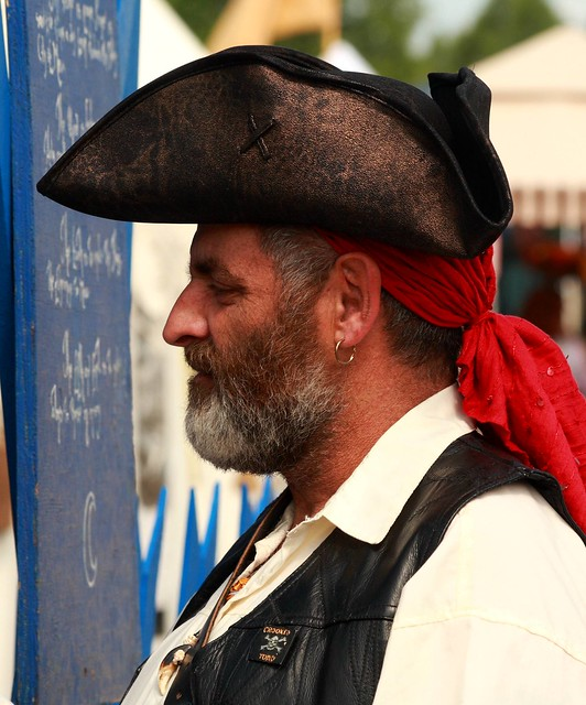 Crusty pirate scoping out the wenches of the Blue Court