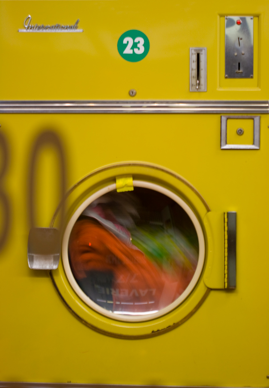Yellow Washing machine