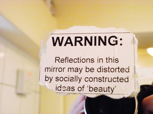Warning: Mirror May Be Distorted | by alachia