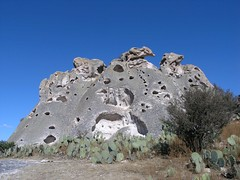 Las Canteras - Limestone outcrop of abandoned village; Durango, Mexico