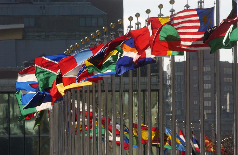 United Nations Headquarters | Flags of member nations flying… | Flickr