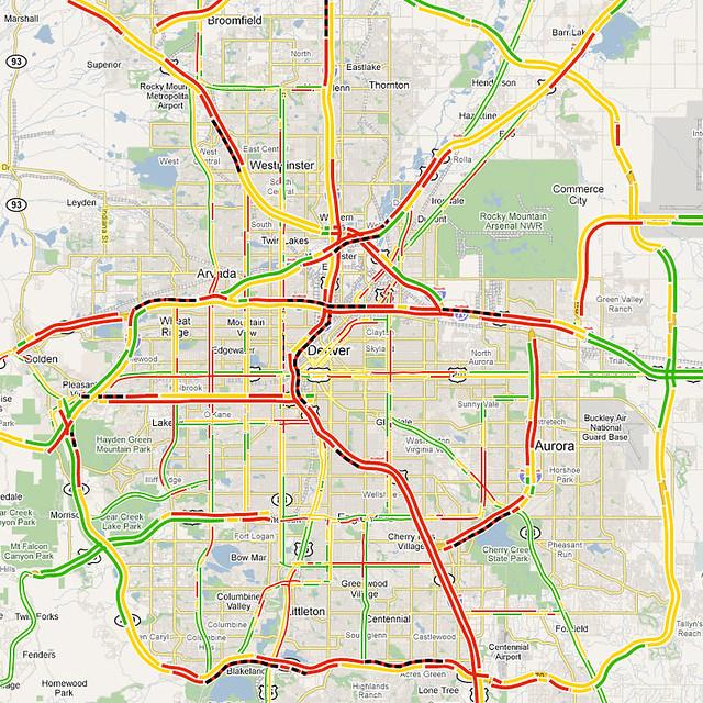 Map of Denver Traffic Conditions | Shawn Campbell | Flickr Denver Traffic Map on