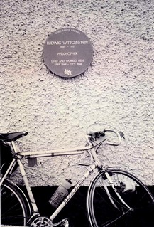 Philosophical Investigations by bicycle, Ludwig Wittgenstein plaque, Rosroe, Co. Galway, Aug 1994