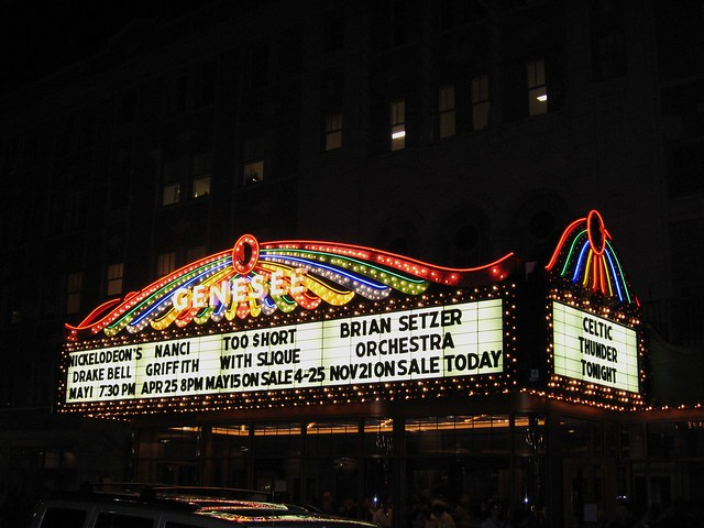 Marquee at Genesee Theater