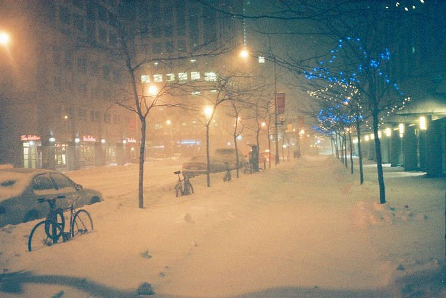 Middle of the night snowstorm.