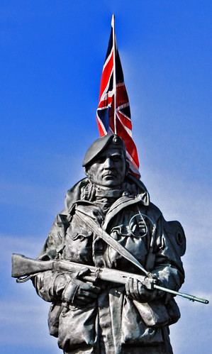 Royal Marine Museum Statue Colour   by Hexagoneye Photography