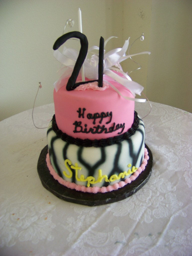 Remarkable Pink N Zebra Wild N Crazy Birthday Cake Tc27Jkw Flickr Funny Birthday Cards Online Inifofree Goldxyz