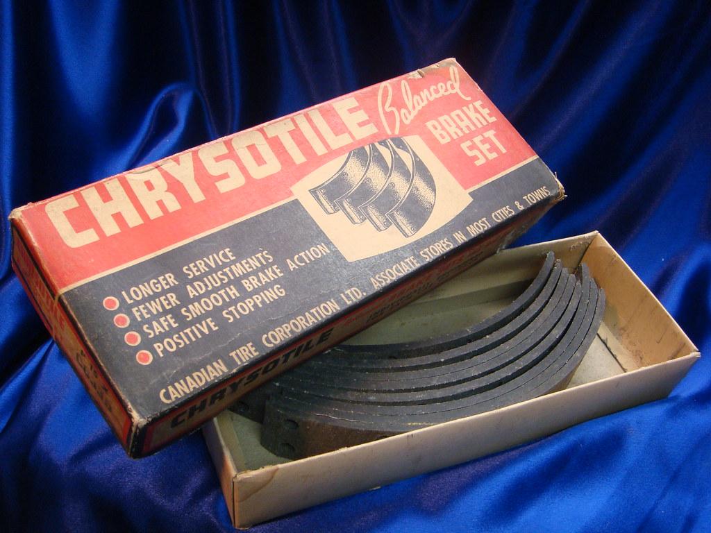 Chrysotile Asbestos Brake Set | View of vintage brake lining
