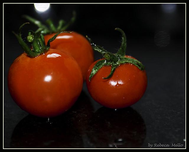 Three tomatoes...