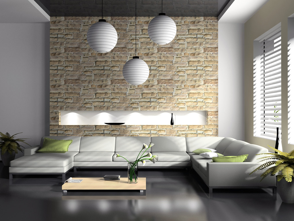 Modern Interior Of Drawing Room 3d Rendering Modern Interi