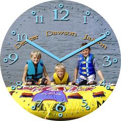 Water Boys Vacation Clock | by customclockface