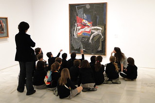 Children and Teachers by Abstract Painting - Museo Reina Sofia - Madrid, Spain | by Adam Jones, Ph.D. - Global Photo Archive