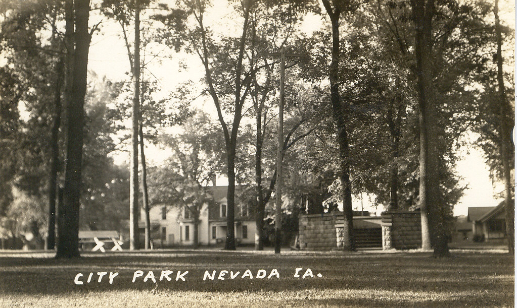 Nevada Iowa City Park Current Site Of Story County Hospi Flickr