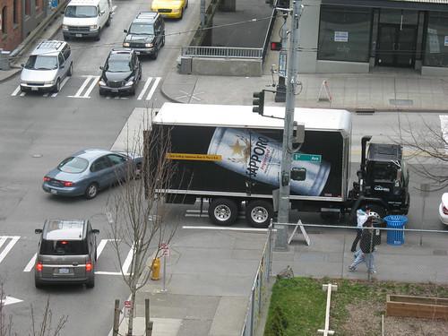 illegal parking blocks crosswalk, Seattle