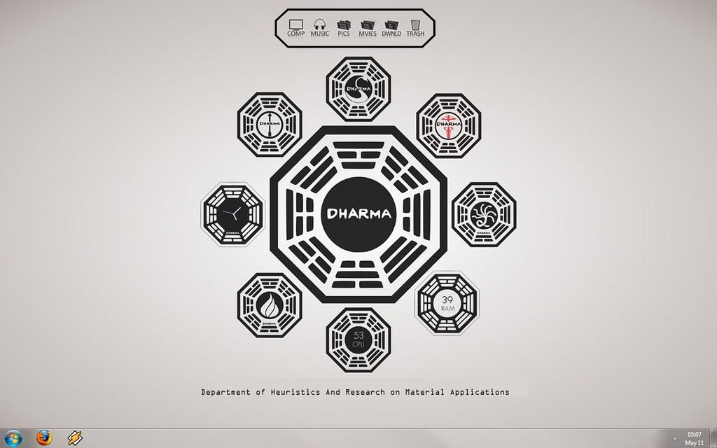 The Dharma Desktop | Namaste! OS: Windows 7 RC1 Dock: Custom… | Flickr
