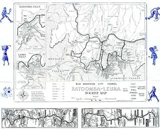 Tourist Map, Katoomba - Leura, Upper Blue Mountains, NSW Australia, 1956 (verso)