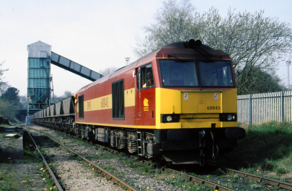 CLASS 60 No 60043 AT SILVERDALE APRIL 1997