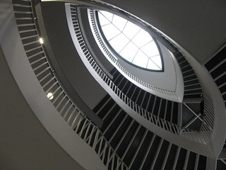 stair case at the museum of contemporary art in chicago | by David Hilowitz