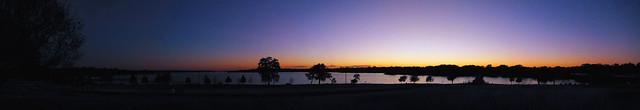 White Rock Lake Sunset Panorama 1127-1113
