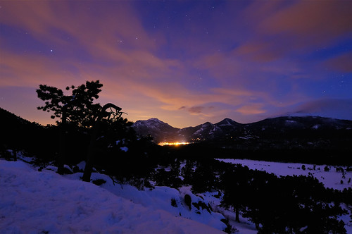 park sky snow nature night clouds stars landscape star evening nationalpark colorado nps snowy co bluehour rmnp 2009 soe estes afterdark rockymountainnationalpark lightpollution clff anawesomeshot