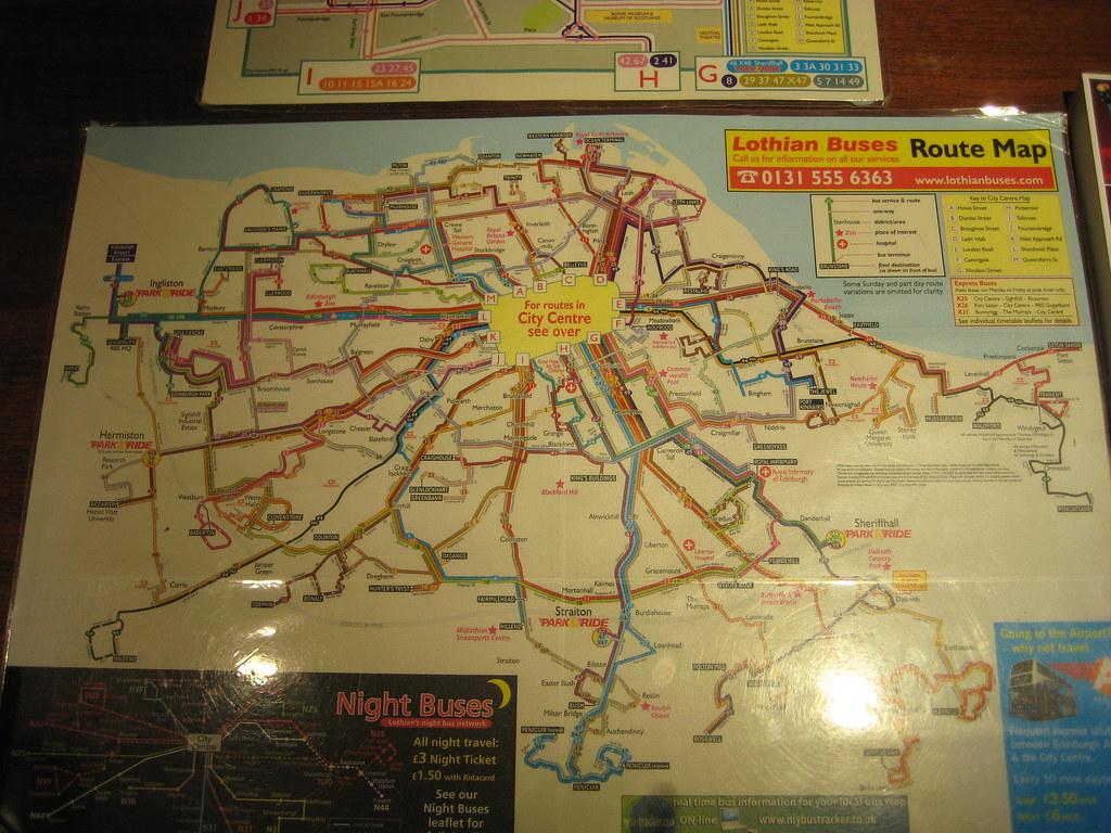Lothian Buses Route Map Lothian Buses Route Map | Ivana | Flickr