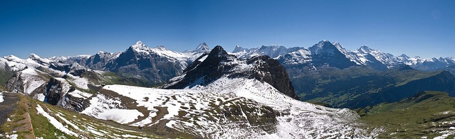 The magnificent view from the Faulhorn