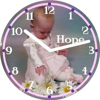Hope Child Clock | by customclockface