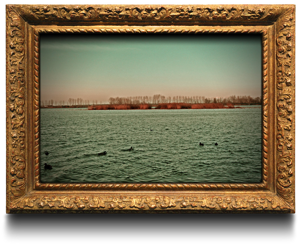 Photo in painting frame