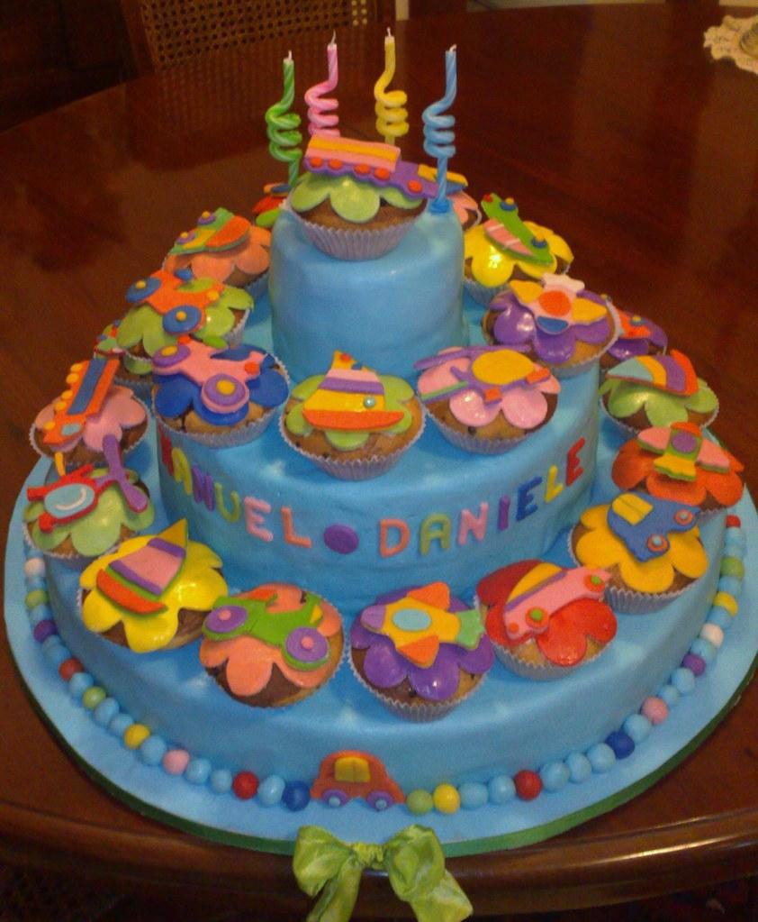 Torta Compleanno Laura.Torta Di Muffin Chiara Laura Flickr