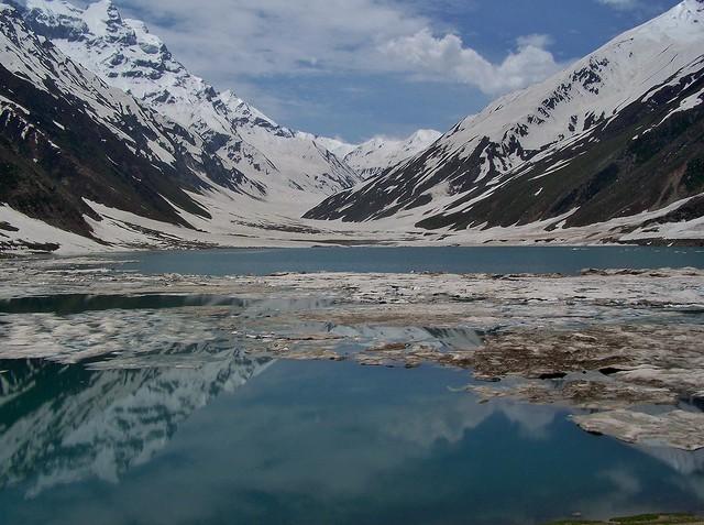 Lake Saiful Muluk (سیف الملوک) In the Lake Saiful Muluk National Park, Kaghan Valley, Pakistan - June 2009