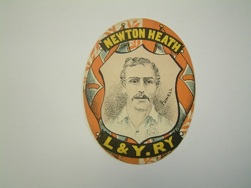 "An Original ""Sharpe's""  Newton Heath card c.1887-1890 with colours as vibrant NOW as they were when first printed 126 years ago! Perhaps this is the only card of it's type in existence?. 