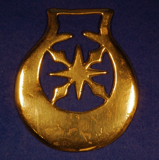 Eight Pointed Star Horse Brass