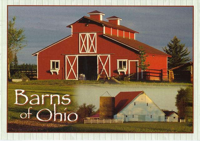 Ohio Barns Postcard