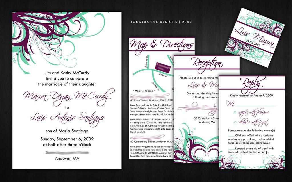 Purple Plum And Sea Green Wedding Invitations Please Con Flickr