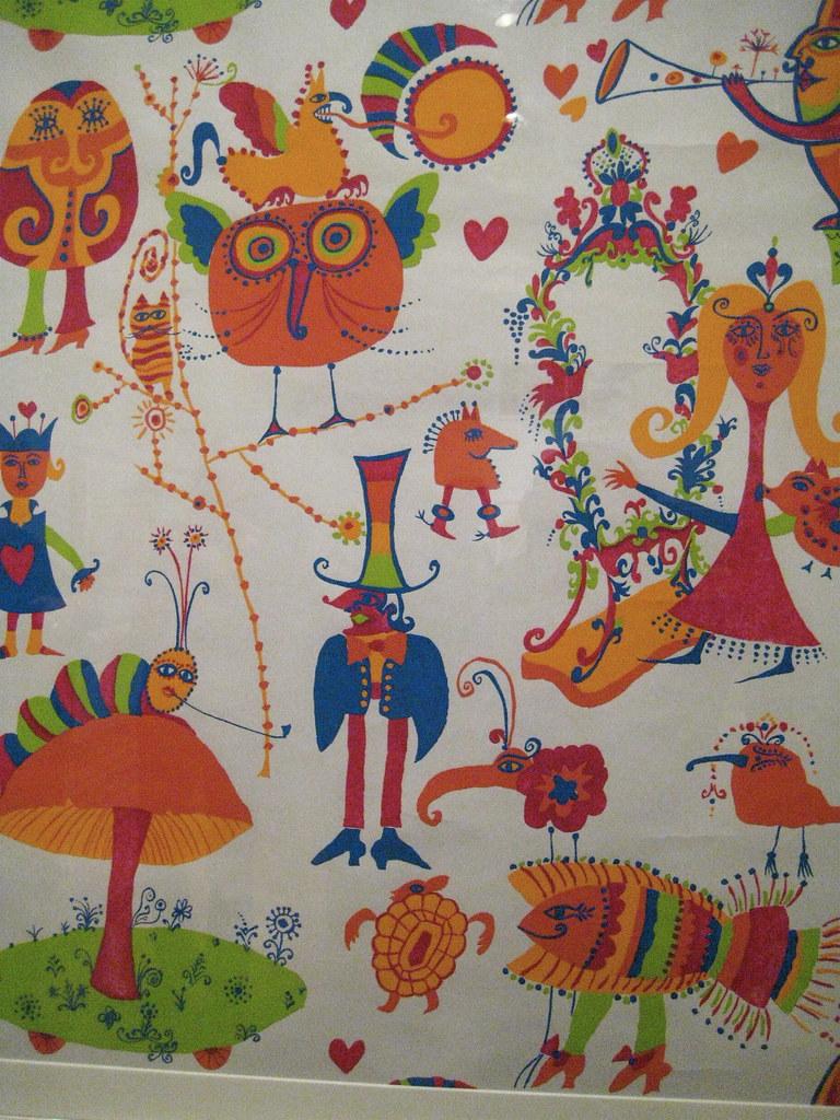 1960s Alice In Wonderland Wallpaper Arlisny At Wall Stori Flickr