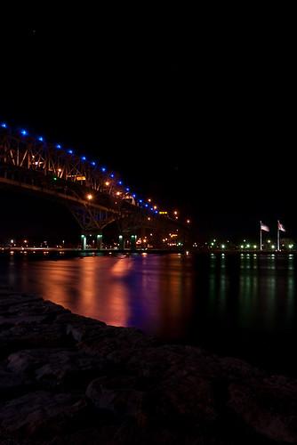 night sarnia bluewaterbridge d80 flickraward