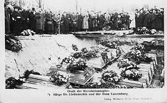 Karl Liebknecht and Rosa Luxemburg's graves
