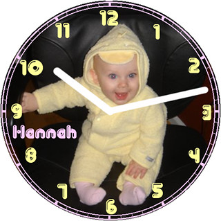Hannah Halloween Clock | by customclockface