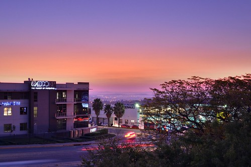 sunset traffic hdr