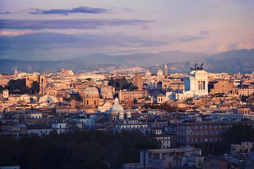 sunset rome roma lights nikon tramonto gianicolo d3100