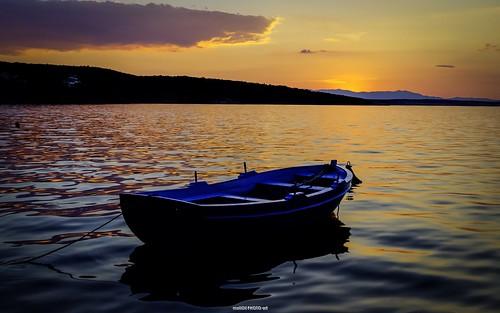 sunset sea sun canon boat twilight europe sundown dusk croatia hdr cro adriaticsea hrvatska krk šilo