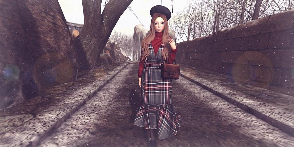 {amiable}Feminine Check Maxi Skirt Dress @ the Shiny Shabby(50%OFF SALE).